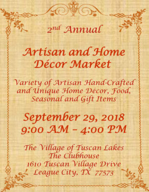 Second Annual Artisan & Home Decor Market